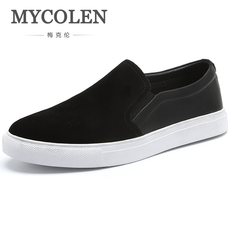 MYCOLEN 2018 New Arrival Brand Casual Canvas Men Shoes Black Fashion Trend Shoes Luxury Designers Breathable Men Shoes 2017 new spring imported leather men s shoes white eather shoes breathable sneaker fashion men casual shoes