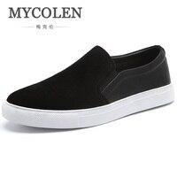 MYCOLEN 2018 New Arrival Brand Casual Canvas Men Shoes Black Fashion Trend Shoes Luxury Designers Breathable Men Shoes