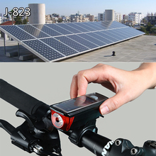 Bike Light Solar Powered USB Rechargeable LED horn Bicycle Light Waterproof 2000 mAh Warning Lamp Night Safety Taill Powerbank