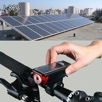 Rower Światła Zasilane Energią Słoneczną róg Rowerów Światła Wodoodporna 2000 mAh USB Akumulator LED Lampka ostrzegawcza Bezpieczeństwo Noc Taill Powerbank