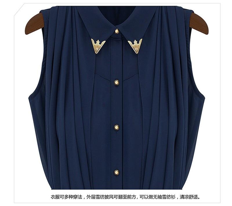 vestidos de fiesta Womens Chiffon Cloak Blouse Shirts Tops Elegant Navy Blue Beige Chiffon Cloak Sunscreen Tops Ladies Fashion  (19)