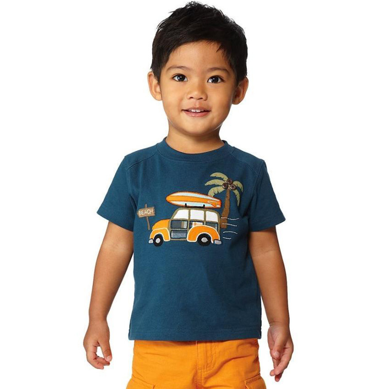 2018NEW Summer Comfortable Toddler Kids Baby Boys Clothes Short Sleeve Cartoon Printing Tops T-Shirt Blouse Children Clothin