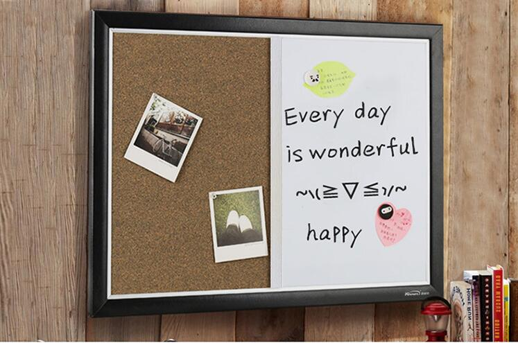 Office Cork Board And Whiteboard Hanging Message Board As Bulletin For Business 60X45cm