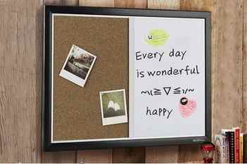 Office Cork Board and Whiteboard Hanging Message Board as Bulletin for Business 60X45cm - Category 🛒 All Category