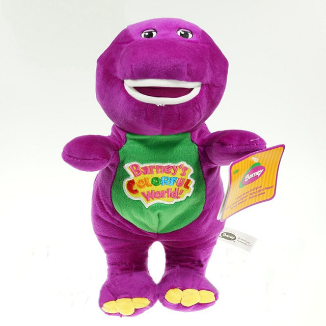"Singing Friends Dinosaur Barney Plush Stuffed Toy 12"" 16.5"" TV Cartoon Soft Dolls Children Baby Kids Birthday Gift"