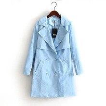 2016 Autumn New  women's fashion wild jacket coat women's clothing  casual double breasted lapel jacket large size