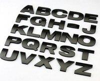 10pcs Top Quality Personalized 3D Metal English Letter Emblem Digital Figure Number Chrome DIY Car Word