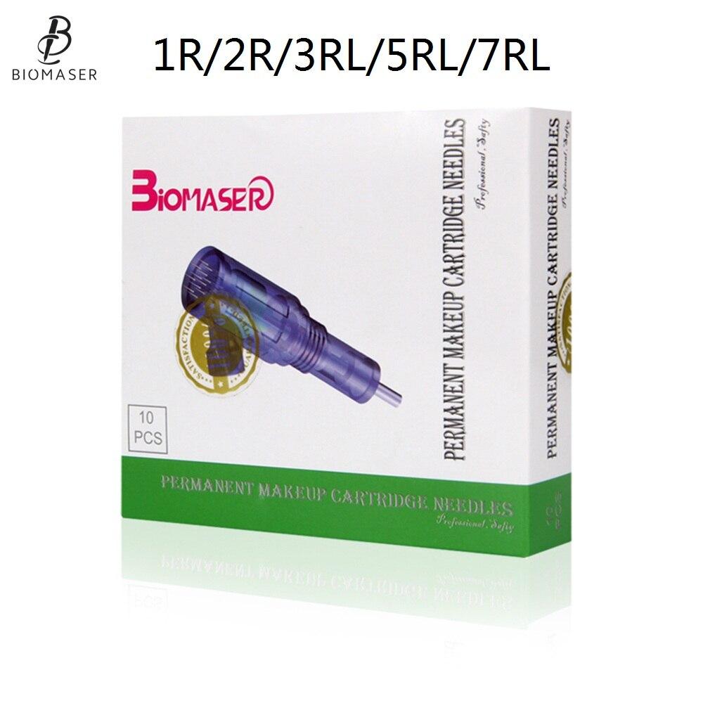 Biomaser 10PCS Revolution Tattoo Needle Permanent Makeup Cartridge Needles For Tattoo Machine Kit Eyebrow Needle 1R2R3R5R