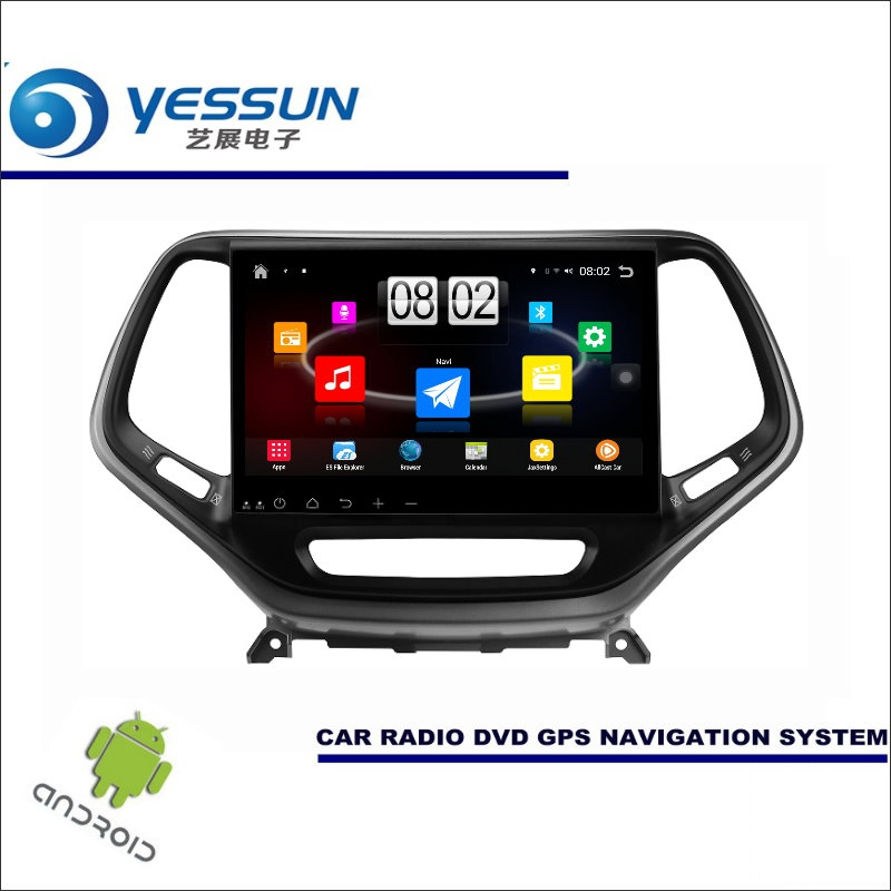 Yessun автомобиля Android мультимедийный плеер для Jeep Cherokee KL 2014 ~ 2016-Радио стерео GPS Географические карты nav Navi (без CD DVD) 10 HD Экран