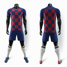 19-20 blank football jersey adult sportswear football training suit football uniforms and shorts sportswear custom various old football jerseys matching suit football training suit blank customizable sportswear suit