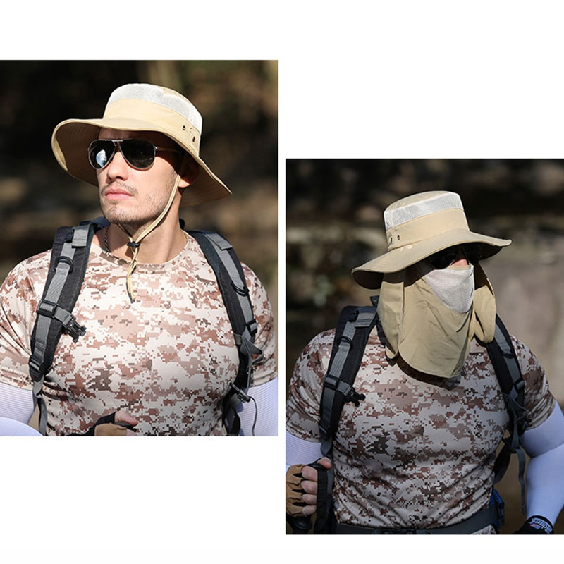 Image 1 - Fishing Flap Caps Men Women Quick Dry 360 Degree Sunshade UV Protection Removable Face Mask Ear Neck Cover Face Sun Cap-in Fishing Caps from Sports & Entertainment