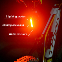 ZTTO Водонепроницаемый MTB Горный Дорожный велосипед Велоспорт спереди и сзади USB Перезаряжаемые безопасный 30 светодиодный 100 люмен светильник хвост светильник WR01