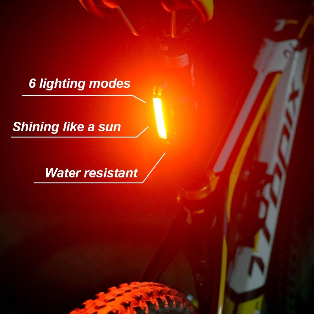 ZTTO Waterproof MTB Moutian אופניים אופניים אופניים רכיבה על אופניים האחורי האחורי USB נטענת בטוח 30 LED 100 לומן אור תאורת WR01