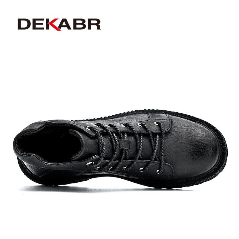 Courtes Cuir En 38 44 Black Moto Dekabr Hommes Chaussures Peluche Bottes Hiver Marque gray Mode Qualité Taille ~ Haute fur Black Cheville Gray Boot Véritable fur Chaud Iqqw8pt