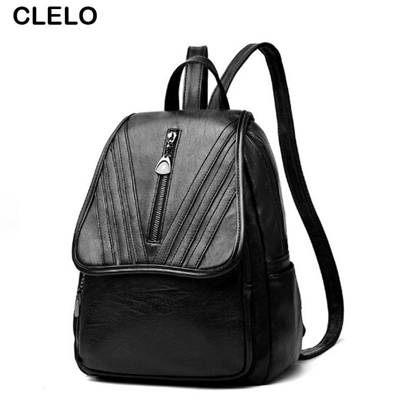 купить CLELO 2017 New Fashion Women Designer Embroidery Backpack Girls SchoolBag Travel Bags Female Brands Sholdder Bag La Mochila недорого