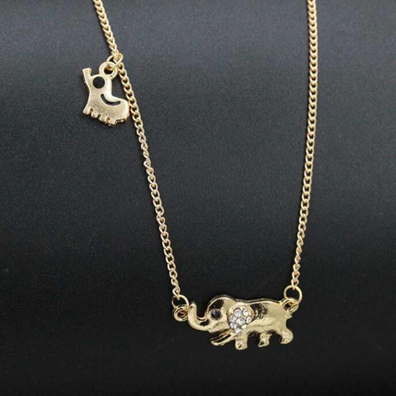 2018 Moana Overwatch новая горячая распродажа слон семья прогулки дизайн модные женские очаровательные хрустальные цепи ожерелье чокер оптовая продажа