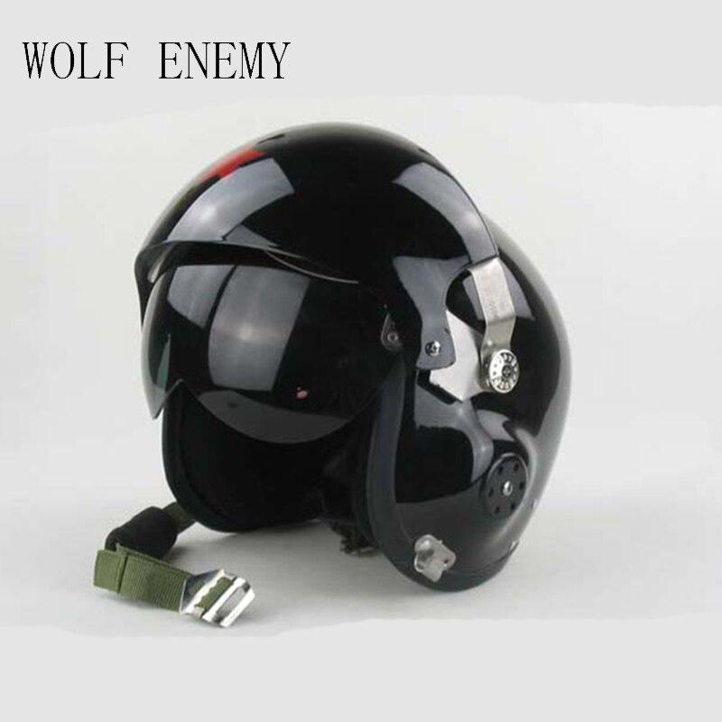 New Motorcycle/Scooter Helmet & Air Force Jet PILOT Flight Helmet Matte Blacks flight fthp 14