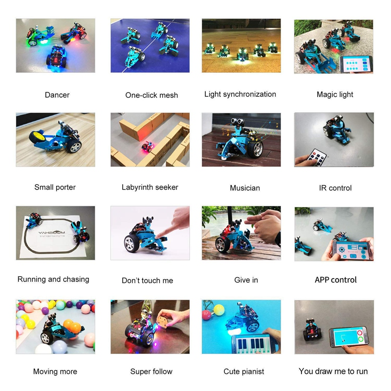 For Mirco Bit Diy 3 In 1 Smart Programming Robot Car Kit Stem Education For 10 Kids To Learn Science Robotics Hellobot Starte in Action Toy Figures from Toys Hobbies
