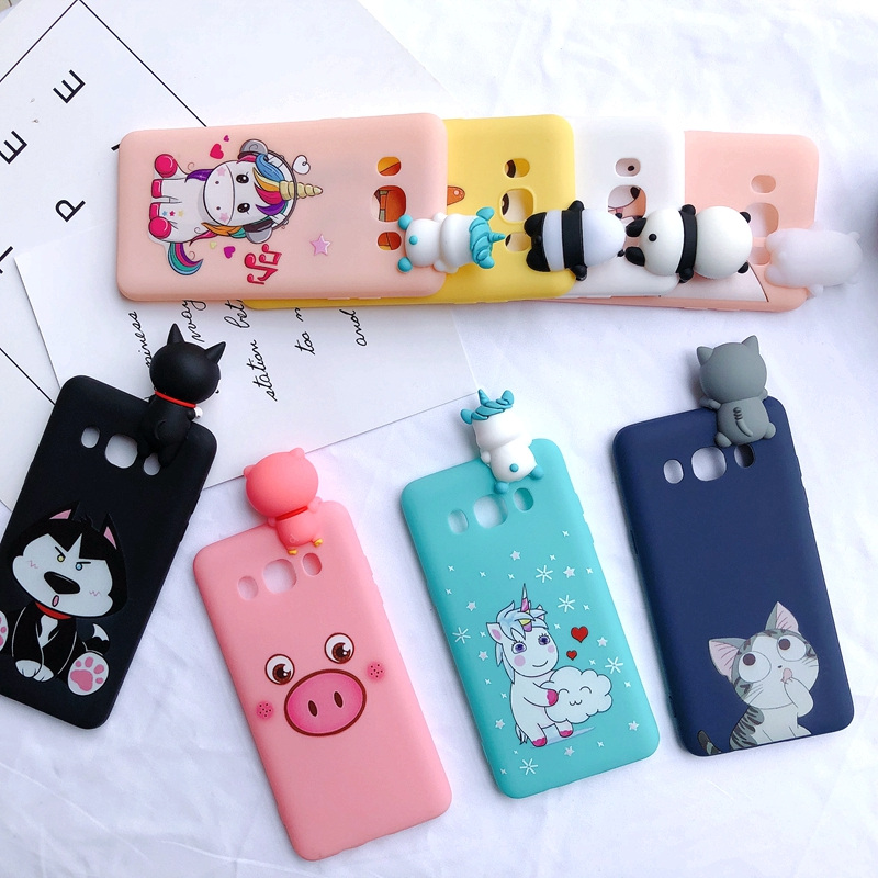 factory price 891de 6865e US $1.58 28% OFF|J3 J5 J7 3D Case on for Samsung Galaxy J5 2016 Case Etui  Kawaii Bear Unicorn Silicone Cover for Funda Samsung J3 J5 J7 2016 Case-in  ...