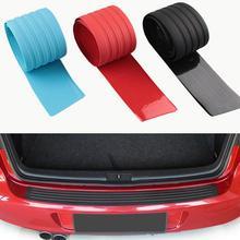 1 шт. резиновый автомобильный порог Бампер протектор багажника защитная пластина наклейка заднего бампера Защитная Накладка полоса царапины пластина