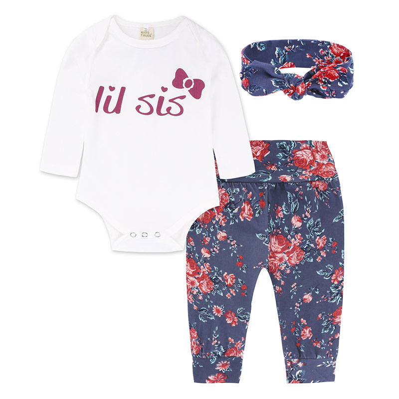 Baby Clothing Sets 3pcs Casual Newborn Boy Girl Clothes Set Cotton Long Sleeve Romper+ Pants+Scarf costume Suits Spring Autumn