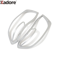 For Toyota Highlander 2008 2010 ABS Chrome Front Headlight Lamp Cover Head Lights Trim Car Exterior Accessories 2pcs