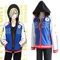 Anime YURI! el ice plisetsky yuri ropa deportiva con capucha sudadera escudo chaqueta del traje de cosplay