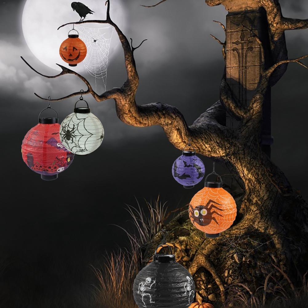 1pcs Pumpkin Spider Ghost Bat Hanging Paper Lanterns
