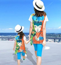 Family Matching Clothes Mother Daughter Mommy and Me 2PCS Clothes Long Sleeve T shirt+Legging Pants Clothing Sets Look Outfits недорого