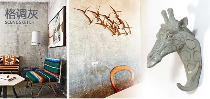 European creative retro home decor resin giraffe hook hanging wall hangings wall hangings living room at home