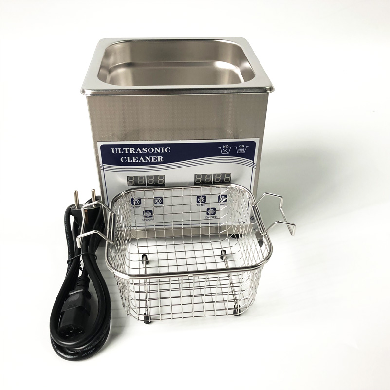 Digital Ultrasonic Cleaner with Baskets Jewelry Watches Dental 2L 60W 40kHz Heating and timer glasses cleaner jewelry 2l stainless bath 60w ultrasonic cleaner 40khz timer setting 1 30mins home washer dental brushes
