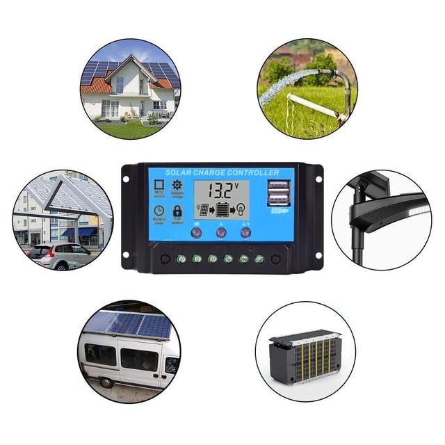 Solar panel monocrystalline 200W foldable flexible panels 2 pcs 18V 100w with 20A Controller 12V or 24V 200 Watt 100 Watt system 6