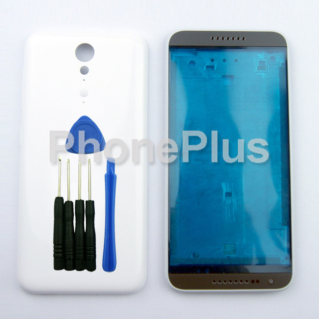 White Front Housing+Battery Cover Frame Bezel Door Full Housing Repair Part For HTC Desire 620