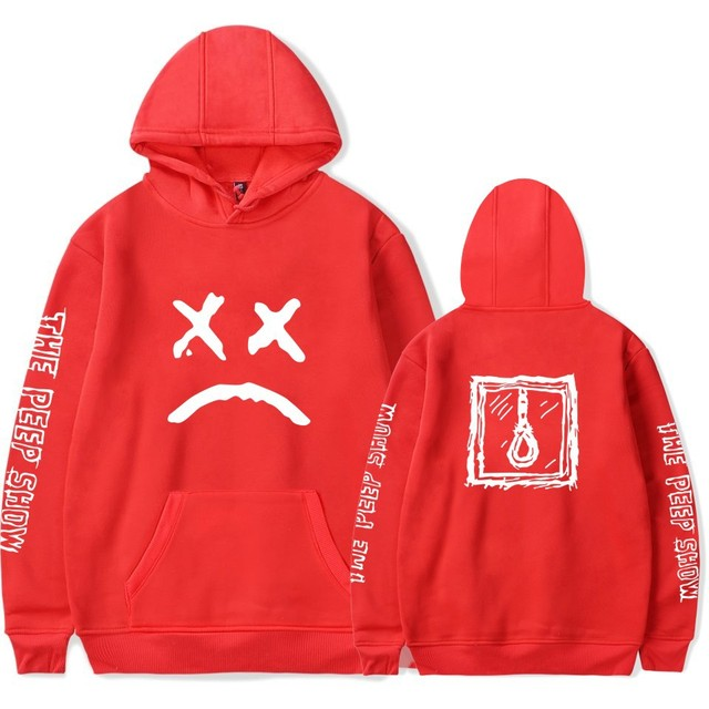 WBDDT Lil Peep Pullover Hoodies Men Belt Front Pocket Hip Hop Streetwear Hot Sale Sweatshirt Outerwear Drop Shipping