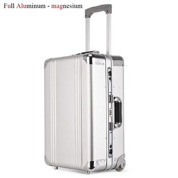 80f0893755c33 Yeni Tasarım Alüminyum Haddeleme Bagaj Çantası Metal Seyahat Bavul Arabası  Bagaj Yatılı Kabin Çantası Alüminyum Taşıma Çantası