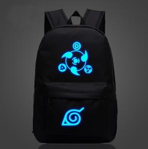 Image 1 - Japan Anime Naruto Backpack Printing Cool Night Lumious School Bag for Teenagers Cartoon Travel Rucksack Oxford Mochila Galaxia