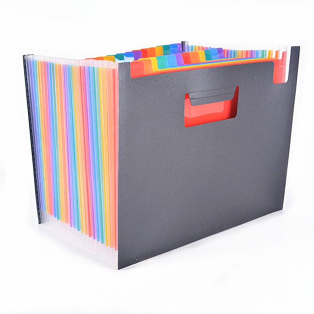 New Arrival Multi-Color Plastic A4 Accordion Document File Folder Organizer With Expandable Wallet Stand