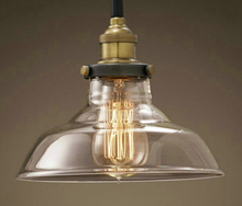 Modern American Industrial Vintage lamp Creative Retro Loft Pendant Lights Glass Bedside Aisle Restaurant hanging light fixtures
