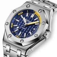 Nuevo BENYAR relojes de moda para hombre, reloj de cuarzo de lujo para hombre, reloj deportivo informal impermeable, caja de reloj