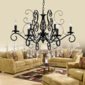 Europe Style wrought iron crystal pendant chandelier lighting restaurant lamp home decorative light fixure