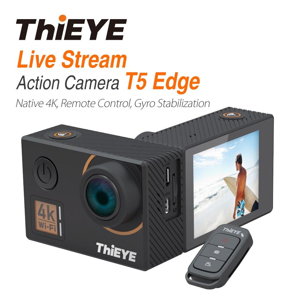 ThiEYE T5 Bord Avec Flux En Direct Cam Réel 4 K Ultra HD caméra d'action avec Gyro Stabilisateur, télécommande Sous-Marine caméra de sport