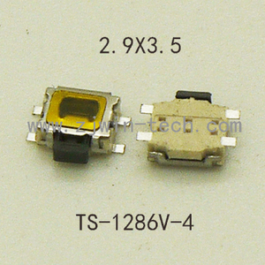 10PCS Mini Button Switch Phone Side Push 3X4MM Micro Button Switch 4Pin SMD used for key/Pad/speak etc(China)