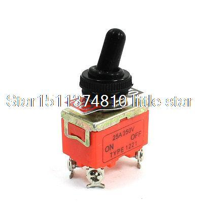 250V 25A Waterproof ON-OFF 4 Screw Terminal DPST Locking Toggle Switch250V 25A Waterproof ON-OFF 4 Screw Terminal DPST Locking Toggle Switch