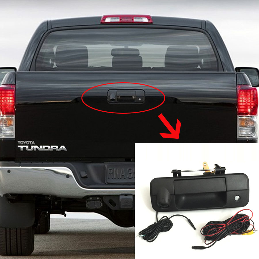 Thehotcakes Auto Accessories Car Tailgate Door Handle Backup Rear view Camera For Toyota Tundra 2007 2013