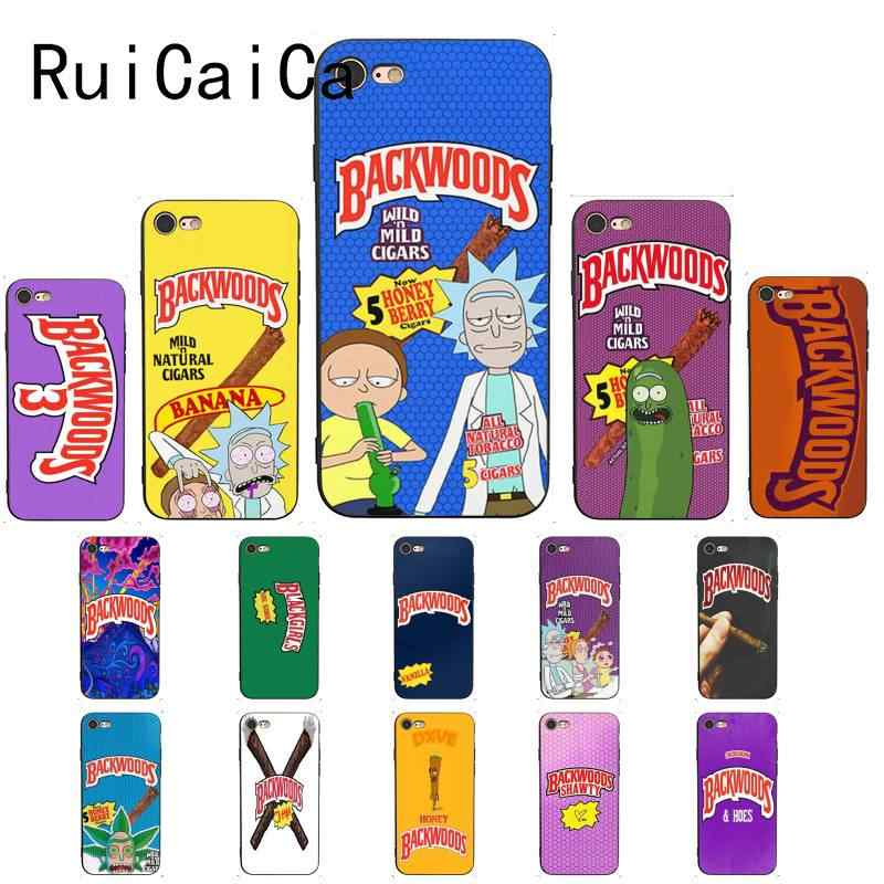 Ruicaica Rick And Morty Backwoods Honey Berry Cigars Drawing Phone Case For Iphone X Xs Max 6 6s 7 7plus 8 8plus 5 5s Se Xr