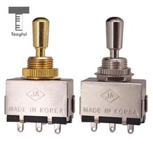 Tooyful Guitar Metal Closed 3-way Pickup Selector Tone Switch Toggle with Copper Knob for LP Electric Guitar Parts