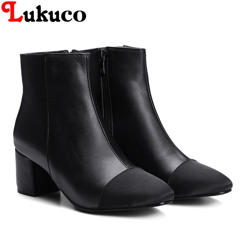 2018 Round toe zipper boots super big size 35 36 37 38 39 40 41 42 43 44 45 46 47 48 wom ...