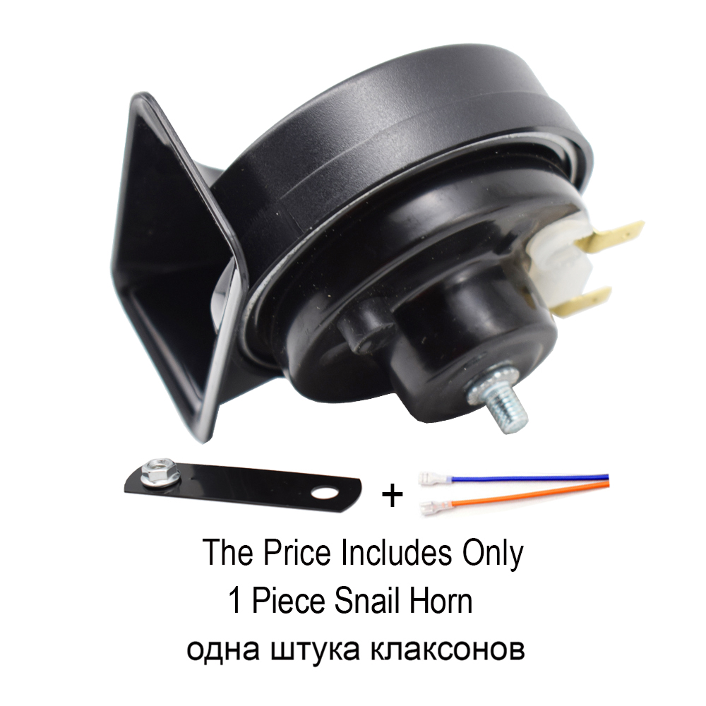 Cuerno de caracol Mini Universal Impermeable Loud Motorcycle Truck Car Snail Air Horn para 12V Truck Motorcycle 510HZ