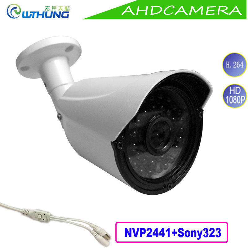 New 2MP 1080P AHD Camera outdoor waterproof Sony323 CMOS 4 in 1 OSD Motion Cam IR Night Vision for security cctv montior cameras 4 in 1 ir high speed dome camera ahd tvi cvi cvbs 1080p output ir night vision 150m ptz dome camera with wiper