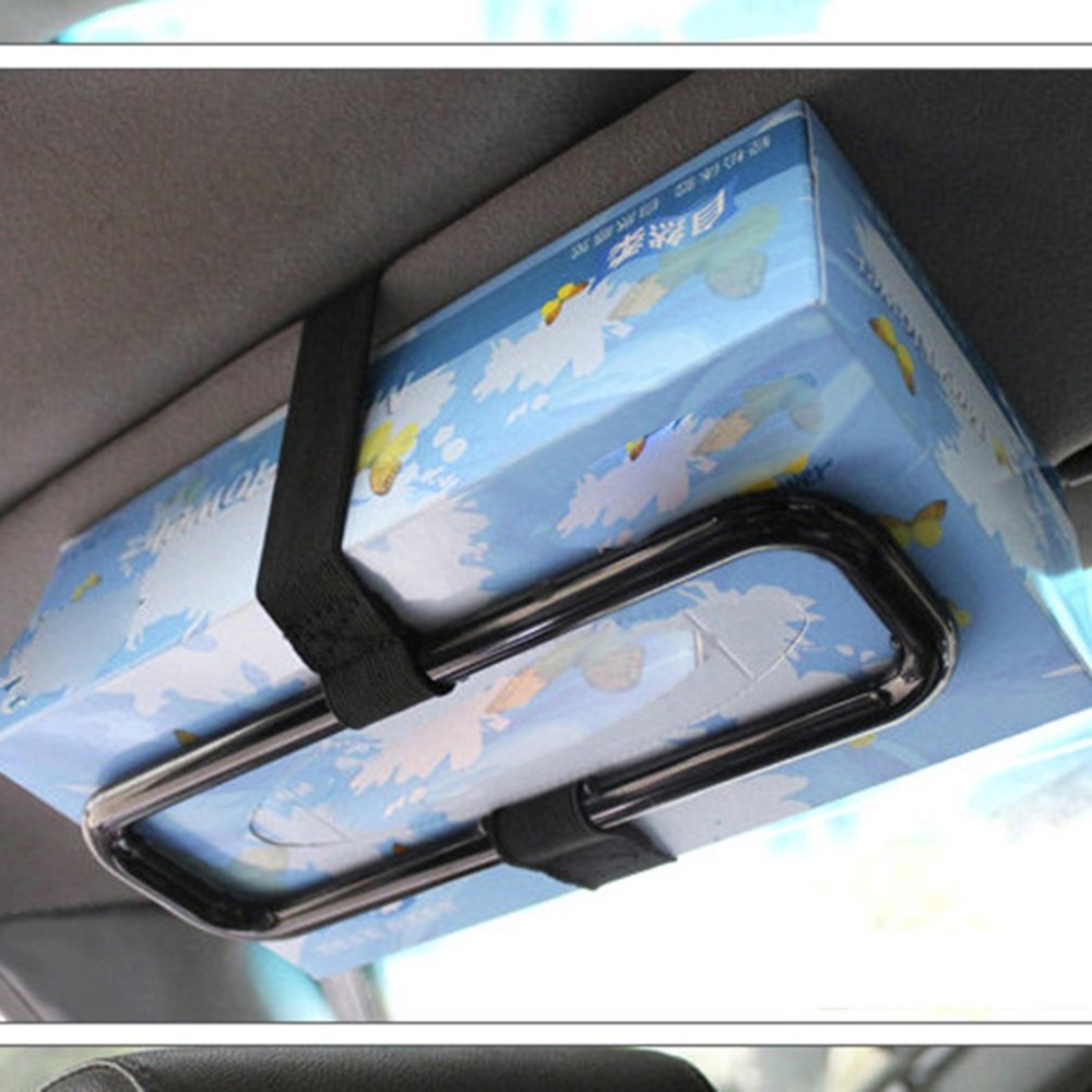 Auto Zonneklep Stoel Terug Tissue Box Cover Auto Interieur Auto Opknoping Tissue Doos Houder Auto Tissue Map
